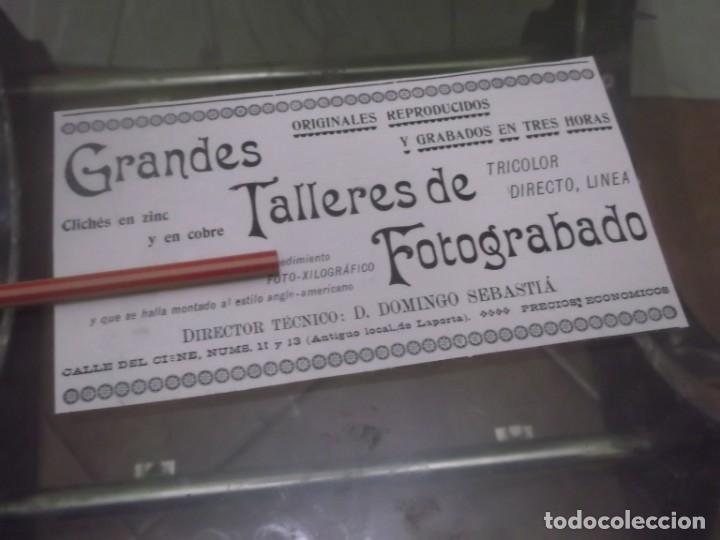 RECORTE PUBLICIDAD AÑO 1902 - GRANDES TALLERES DE FOTOGRABADO - MADRID (Coleccionismo en Papel - Varios)