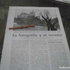 Coleccionismo Papel Varios: RECORTE AÑOS 40/50 - LA FOTOGRAFÍA Y EL TURISMO , ASTURIAS,AVILA,TORO ,SEGOVIA,SIERRA NEVADA. Lote 151044022