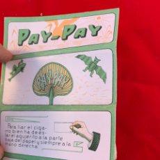 Coleccionismo Papel Varios: LIBRITO DE PAPEL DE FUMAR PAY PAY. Lote 151075350
