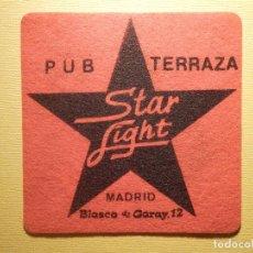 Coleccionismo Papel Varios: POSAVASOS PUBS Y DISCOTECAS - PUB TERRAZA STAR LIGHT - BLASCO DE GARAY, 12 - MADRID. Lote 151463882