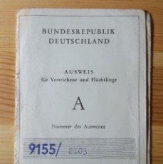 Coleccionismo Papel Varios: CARNET DE CONDUCIR ALEMAN 1955 - BUNDESREPUBLIK DEUTSCHALAND DDR VER FOTOS. Lote 151469634