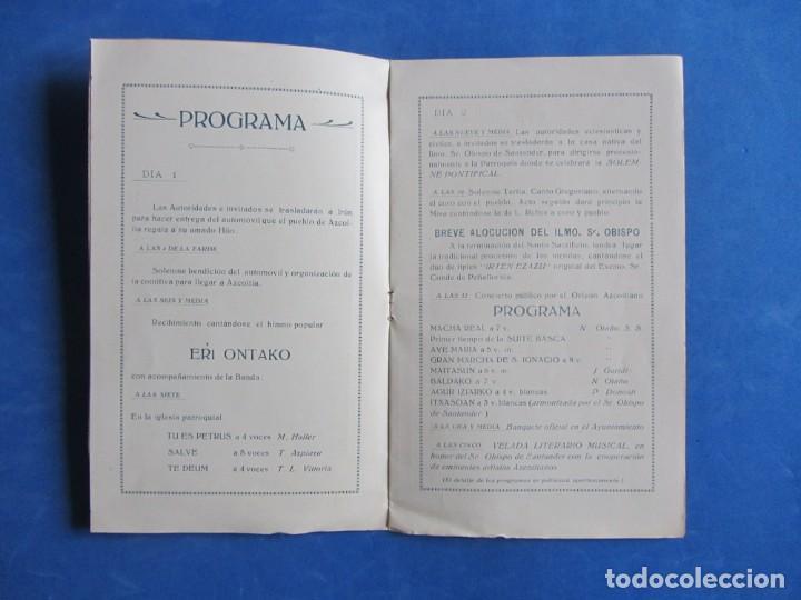 Coleccionismo Papel Varios: Homenaje que el pueblo de Azcoitia (Azkoitia) rinde a su hijo predilecto. D. José Eguino Trecu 1929 - Foto 2 - 151535026