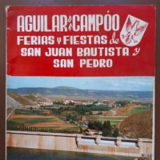 Coleccionismo Papel Varios: AGUILAR DE CAMPOO - FERIAS Y FIESTAS DE SAN JUAN Y SAN PEDRO - 1967. Lote 151572406