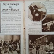 Coleccionismo Papel Varios: ARTICULO COMPLETO BREVE HISTORIA DEL QUESO DE BURGOS 1929. Lote 151842774