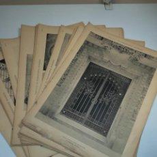 Coleccionismo Papel Varios: LOTE 40 LÁMINAS FOTOS TRABAJOS DE HERRERÍA CIRCA AÑOS 30. Lote 152062770
