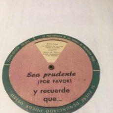 Coleccionismo Papel Varios: JEFATURA CENTRAL DE TRÁFICO 1963. Lote 152266850
