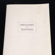 Coleccionismo Papel Varios: LIBRETA DE DIRECCIONES Y TELEFONOS.. Lote 152307362
