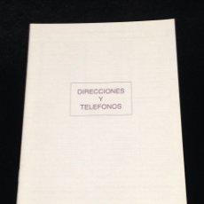 Coleccionismo Papel Varios: LIBRETA DE DIRECCIONES Y TELEFONOS.. Lote 152307560