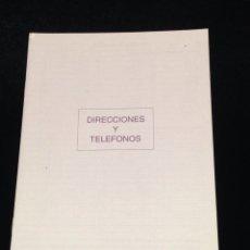 Coleccionismo Papel Varios: LIBRETA DE DIRECCIONES Y TELEFONOS.. Lote 152307752