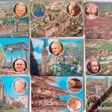 Coleccionismo Papel Varios: LOTE 9 TARJETAS POSTALES. 1982. VISITA DEL PAPA A ESPAÑA. JUAN PABLO II.. Lote 152448198