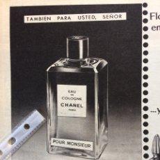Coleccionismo Papel Varios: PUBLICIDAD PERFUME CHANEL DE 1960. Lote 152448408