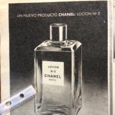 Coleccionismo Papel Varios: PUBLICIDAD PERFUME CHANEL DE 1960. Lote 152448529