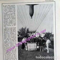 Coleccionismo Papel Varios: H-1925 FERNÁNDEZ DURO (FUNDADOR REAL AERO CLUB DE ESPAÑA). ASCENSIÓN EN GLOBO. 4 PAG. FOTOS. Lote 152596610
