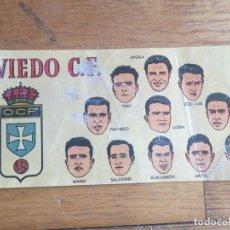 Coleccionismo Papel Varios: ANTIGUO CROMO-FICHA REAL OVIEDO, CHOCOLATES BATANGA, TEMP.1953-54. MIDE 14,5X7CMS. Lote 152759738