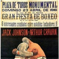 Altri oggetti di carta: CARTEL GIGANTE DEL COMBATE JACK JOHNSON VS. ARTHUR CRAVAN. SEPARATA DEL Nº 38 DE LA REVISTA POESÍA .. Lote 246010490