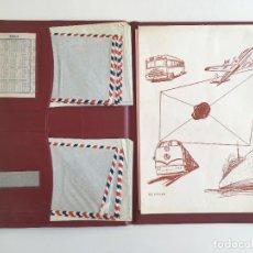 Coleccionismo Papel Varios: ANTIGUA CARPETA PARA CORRESPONDENCIA, CON CARTAS Y SOBRES, Y UN CALENDARIO DEL AÑO 1964. Lote 153317770