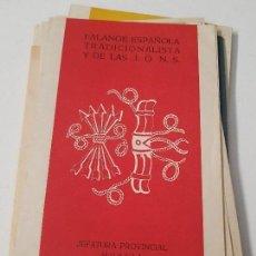 Coleccionismo Papel Varios: FOLLETOS CONFERENCIAS FALANGE ESPAÑOLA JONS FRANQUISMO MURCIA AÑOS 50. Lote 153432862