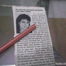 Coleccionismo Papel Varios: RECORTE AÑOS 80 - MICHAEL JACKSON . Lote 153558546