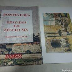 Coleccionismo Papel Varios: PONTEVEDRA GRAVADOS DO SECULO XIX - CARPETA + 30 LÁMINAS. Lote 153595020
