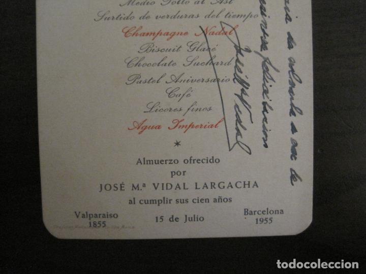 Coleccionismo Papel Varios: MENU ANTIGUO ORIGINAL-OSBORNE Y CIA VIÑOS & COÑAC-PUERTO DE SANTA MARIA-FIRMADO-VER FOTOS-(V-16.035) - Foto 3 - 153714718