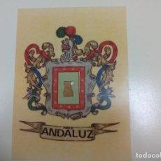 Coleccionismo Papel Varios: ESCUDO DE ARMAS. BLASON ESPAÑOL, ESCUDO HERALDICA.. LÁMINA. APELLIDO ANDALUZ. Lote 153726554