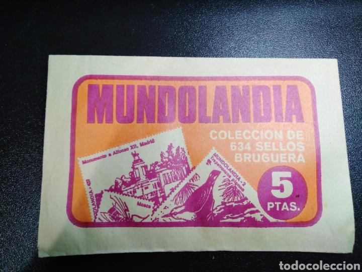 COLECCION SELLOS BRUGUERA MUNDOLANDIA SOBRE NUEVO SIN ABRIR. AÑO 1975 (Coleccionismo en Papel - Varios)
