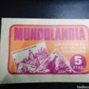 Coleccionismo Papel Varios: COLECCION SELLOS BRUGUERA MUNDOLANDIA SOBRE NUEVO SIN ABRIR. AÑO 1975. Lote 154049221
