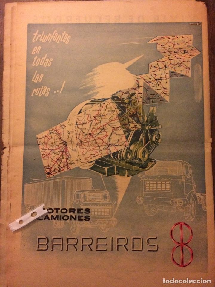 PUBLICIDAD CAMIÓN BARREIROS DE 1961 (Coleccionismo en Papel - Varios)