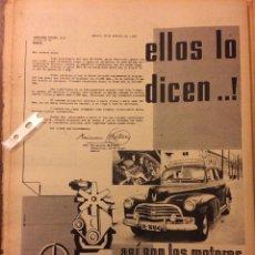 Coleccionismo Papel Varios: PUBLICIDAD CAMIÓN AUTOMÓVIL BARREIROS DE 1959. Lote 154188669