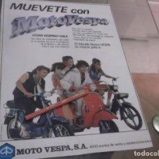 Coleccionismo Papel Varios: RECORTE PUBLICIDAD AÑOS 80 - MOTO VESPA - VESPINO - VALE . Lote 154357942