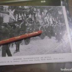 Coleccionismo Papel Varios: RECORTE AÑO 1920 - MADRID , ENTIERRO DE LA ESCRITORA EMILIA PARDO BAZÁN. Lote 154480110