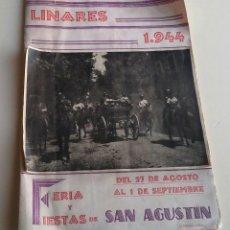 Coleccionismo Papel Varios: PROGRAMA FIESTAS LINARES. 1944. Lote 154644794