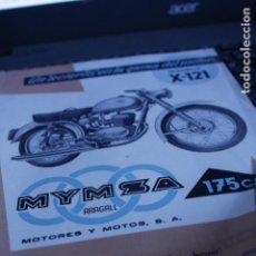 Coleccionismo Papel Varios: FOLLETO CARACTERISTICAS MOTO MOTOS MYMSA ARAGALL 175 C.C. ORIGINAL. Lote 155078946
