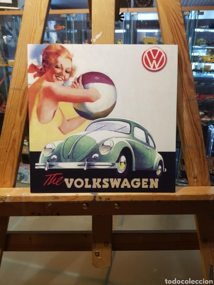 Coleccionismo Papel Varios: Volkswagen Escarabajo: Cuadro Pin Up Publicidad 1950s Vintage. - Foto 6 - 155377670