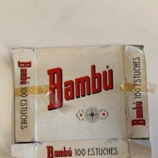 Coleccionismo Papel Varios: TAPA CAJA PAPEL DE FUMAR MARCA BAMBÚ. Lote 155391610