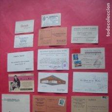 Coleccionismo Papel Varios: MADRID.-TARJETAS.-PUBLICIDAD.-COMERCIO.-INDUSTRIA.-LOTE DE 14 TARJETAS PUBLICITARIAS.. Lote 155394542