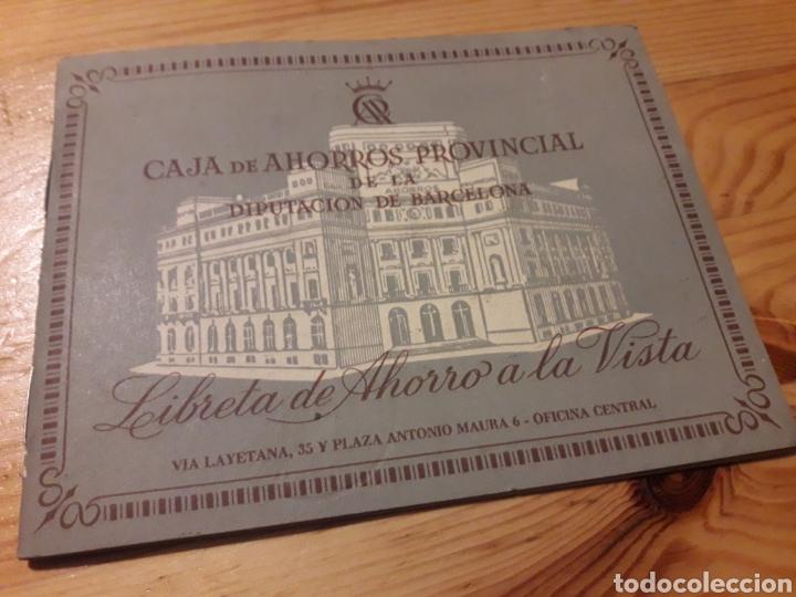 LIBRETA AHORRO CAJA DE AHORROS PROVINCIAL DIPUTACION BARCELONA (Coleccionismo en Papel - Varios)