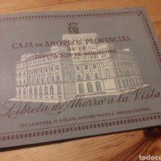 Coleccionismo Papel Varios: LIBRETA AHORRO CAJA DE AHORROS PROVINCIAL DIPUTACION BARCELONA. Lote 155424541