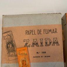 Coleccionismo Papel Varios: CAJA COMPLETA PAPEL DE FUMAR ZAIDA N150. Lote 155577692