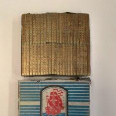 Coleccionismo Papel Varios: CAJA COMPLETA PAPEL DE FUMAR CARABELA - ALCOY. Lote 155578406