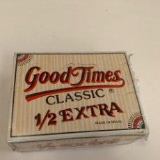 Coleccionismo Papel Varios: CAJA COMPLETA PAPEL DE FUMAR GOOD TIMES 1/2 EXTRA. Lote 155596500