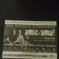 Coleccionismo Papel Varios: RECORTE «AMIC AMAT». Lote 155700102