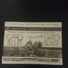 Coleccionismo Papel Varios: RECORTE «GATO NEGRO GATO BLANCO». Lote 155700154