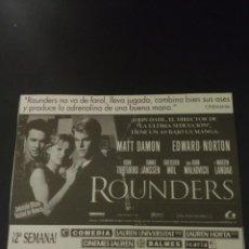 Coleccionismo Papel Varios: RECORTE «ROUNDERS». Lote 155700290