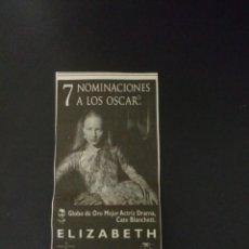 Coleccionismo Papel Varios: RECORTE «ELIZABETH». Lote 155700374