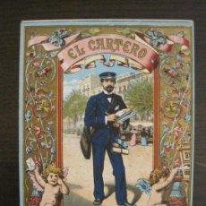 Coleccionismo Papel Varios: EL CARTERO-FELICITACION ANTIGUA-VER FOTOS-(57.817). Lote 155822822