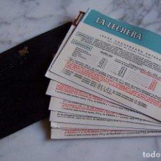 Coleccionismo Papel Varios: LOTE FORMADO POR 10 FICHAS ANTIGUAS DE PRODUCTOS NESTLÉ EN SU FUNDA. PELARGON, ELEDON, MIDO, CELAC... Lote 155898466
