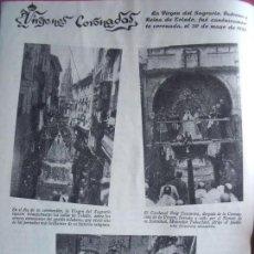 Coleccionismo Papel Varios: VIRGEN DEL SAGRARIO.-PATRONA DE TOLEDO.-TOLEDO.-VIRGENES CORONADAS.-REPORTAJE REVISTA.-AÑOS 50.. Lote 155931590
