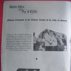 Coleccionismo Papel Varios: NUESTRA SEÑORA DEL PUI DE ESTELLA.-NAVARRA.-CORONACION.-REPORTAJE REVISTA.-AÑOS 50.. Lote 155932214