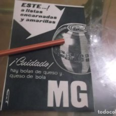 Sammelleidenschaft Andere Papierartikel - RECORTE PUBLICIDAD AÑOS 1929/30 - QUESO DE BOLA MG - 156342862